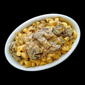 mushroom stroganoff mac and cheese